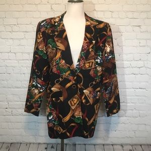 Sharon Young vintage blazer - duck hunting pattern